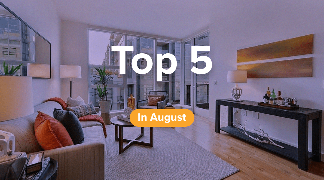 August top 5 properties for rent