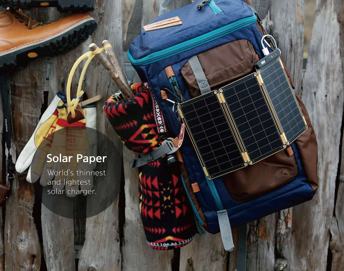Solar paper outdoor