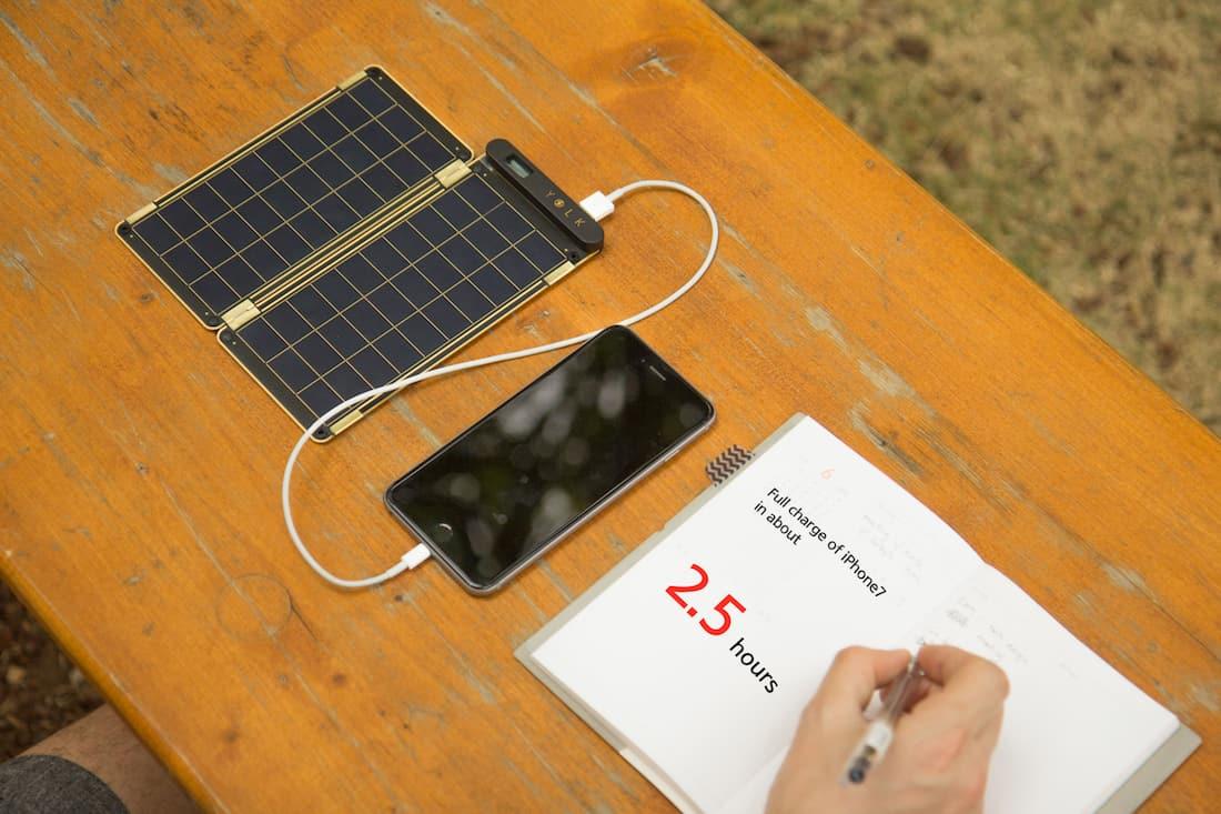 Solar paper in use