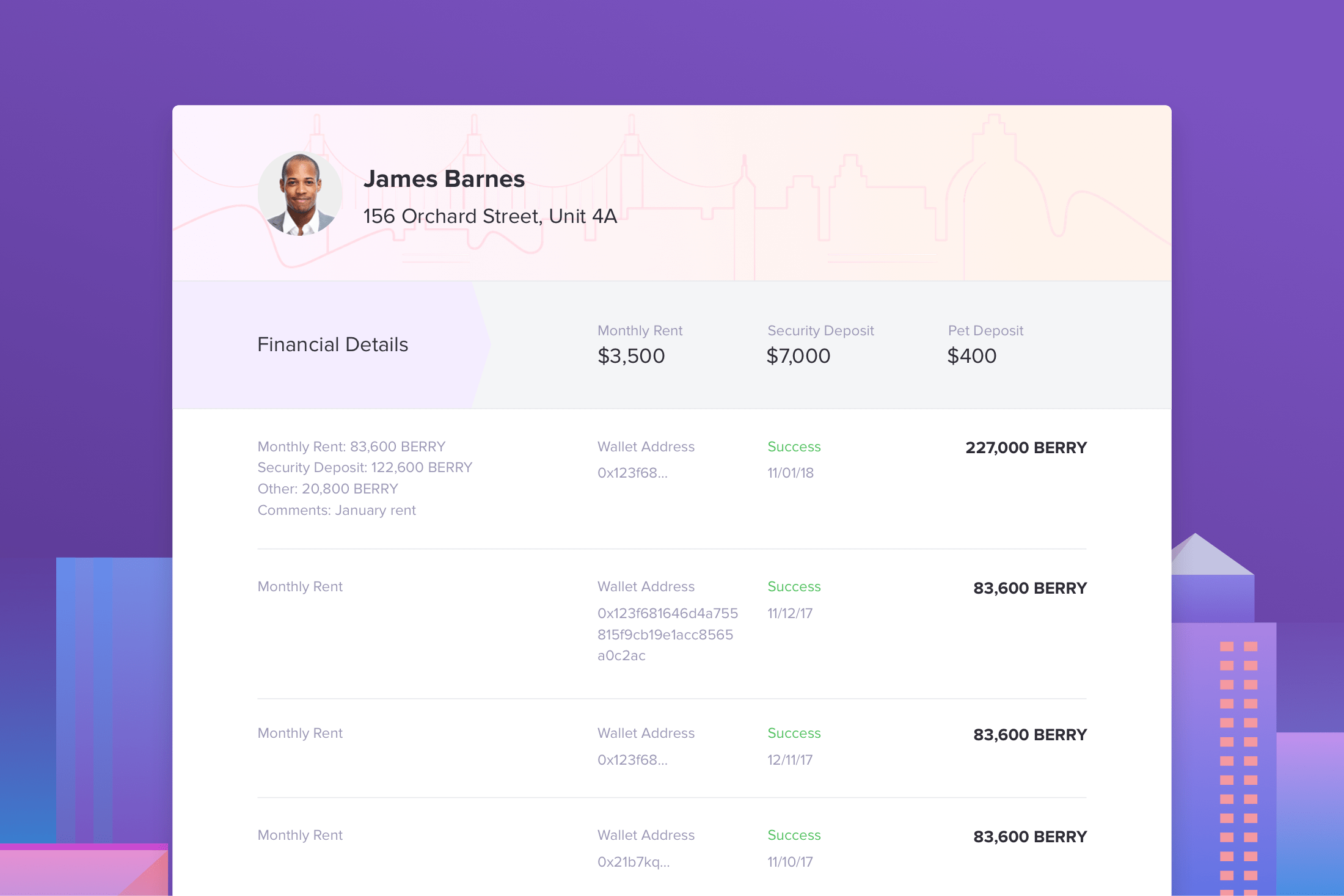 Berry payments history