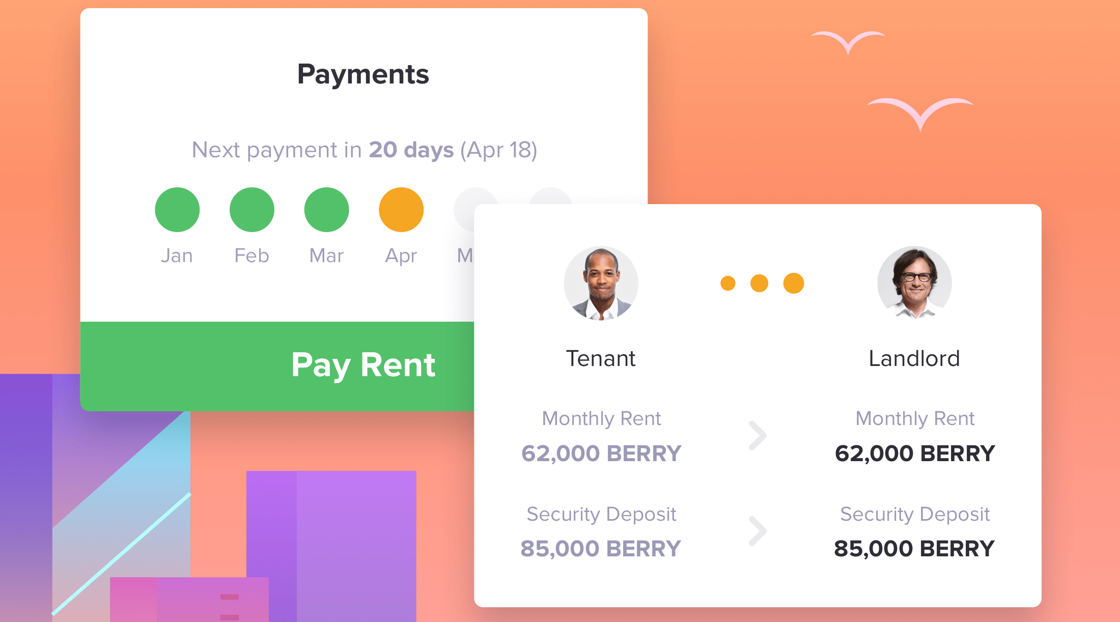 Rent payments in BERRY
