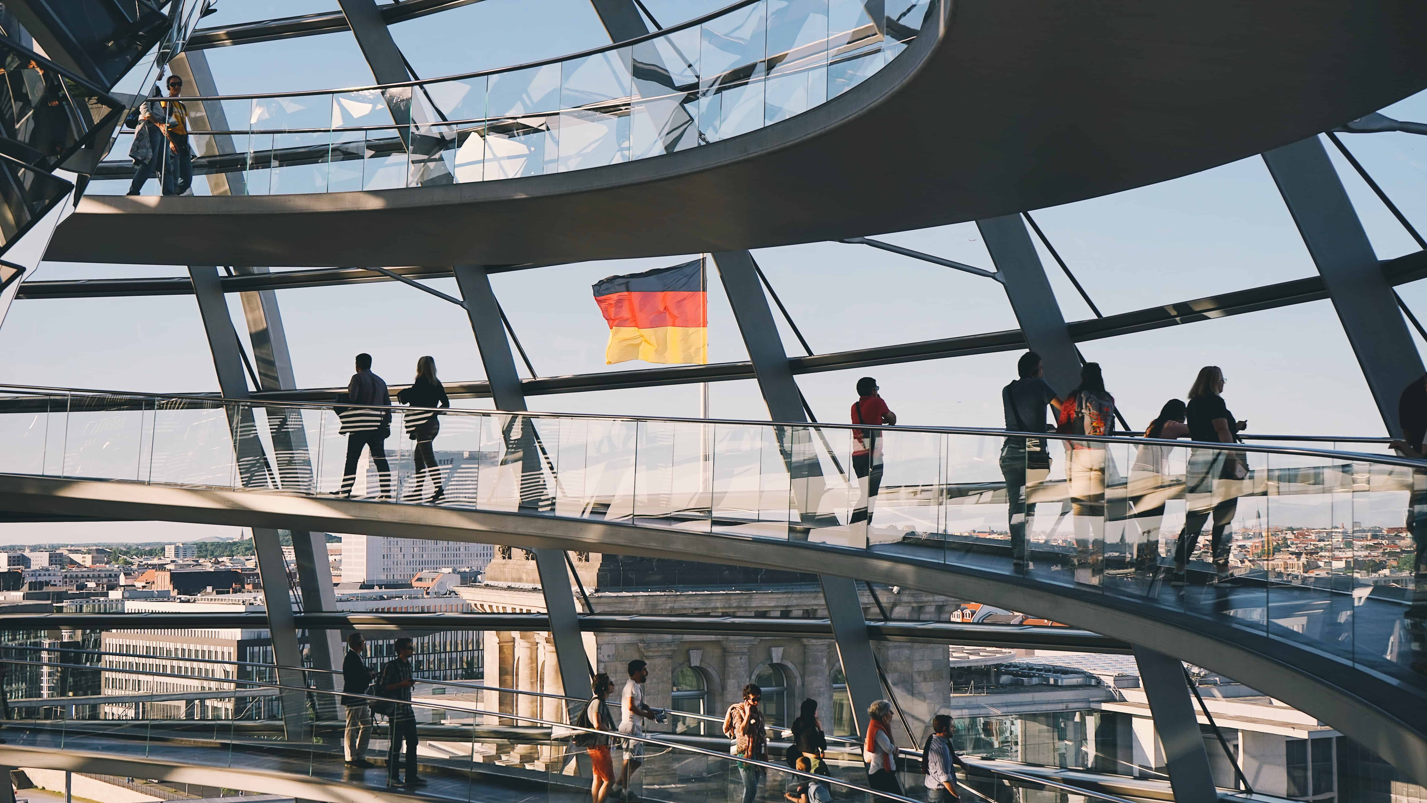 View from German Parlament