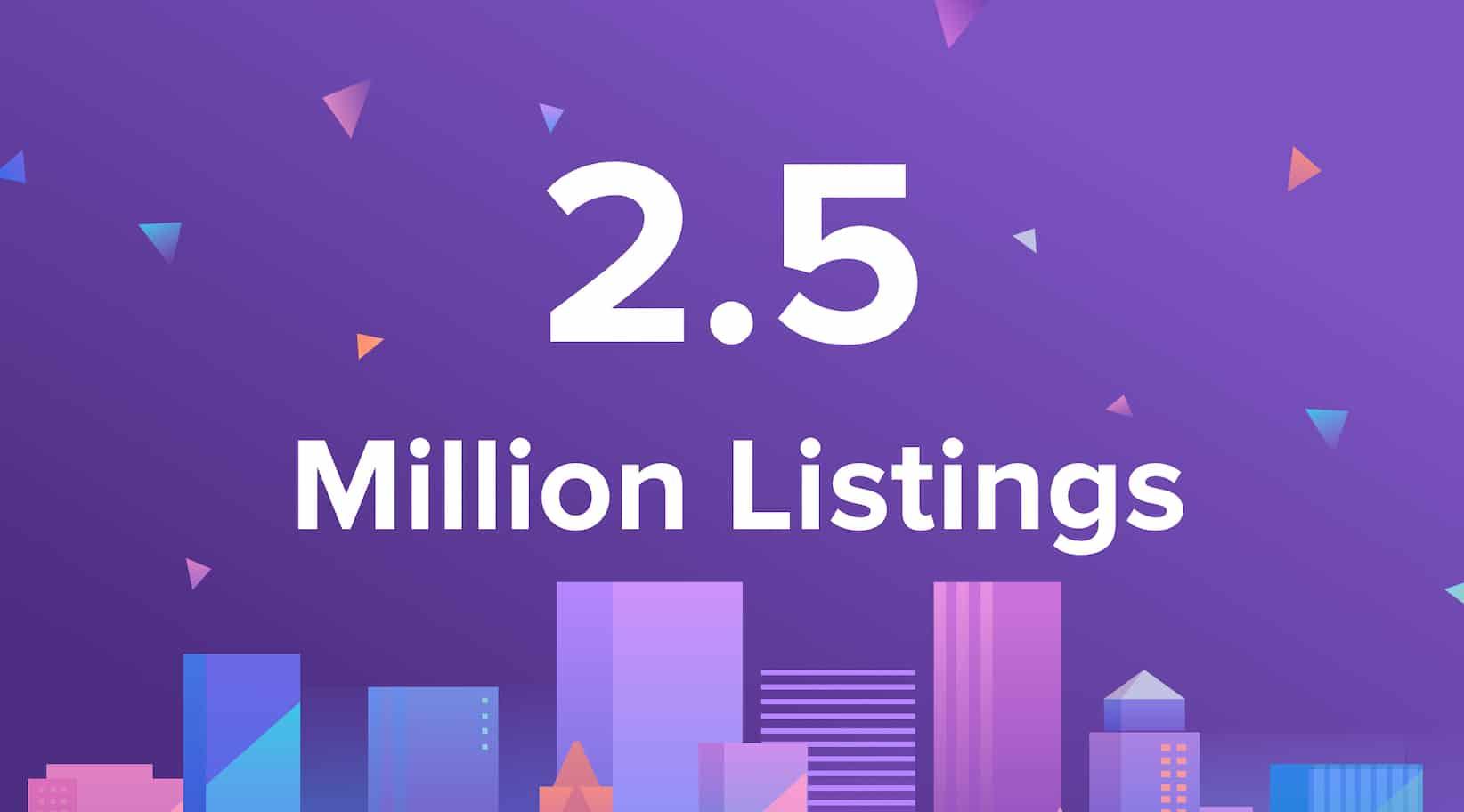2.5 million listings on Rentberry